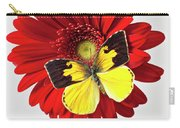 Red Mum With Dogface Butterfly Carry-all Pouch by Garry Gay
