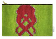 Nude Yoga Girl Red Carry-all Pouch