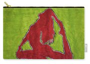 Red Nude Yoga Girl Carry-all Pouch