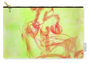 Red On Green Figure Carry-all Pouch