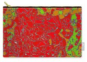 Red Orange Green Abstract Painting Carry-all Pouch