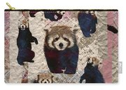 Red Panda Abstract Mixed Media Digital Art Collage Carry-all Pouch