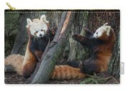 Red Panda Cubs At Play Carry-all Pouch