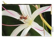 Red Paper Wasps And Spider Lily Carry-all Pouch