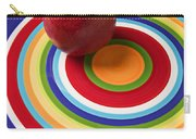 Red Pear On Circle Plate Carry-all Pouch