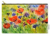 Red Poppies And Cornflowers Carry-all Pouch
