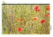 Red Poppies And Wild Flowers Carry-all Pouch
