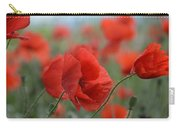 Red Poppies Blooming Carry-all Pouch