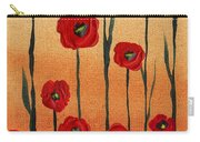 Red Poppies Decorative Art Carry-all Pouch