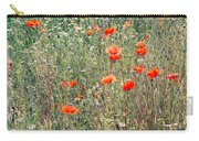 Red Poppies In A Summer Sun Carry-all Pouch