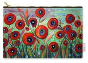 Red Poppies In Grass Carry-all Pouch