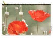 Red Poppies Carry-all Pouch by Kim Hojnacki