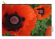 Red Poppies Carry-all Pouch