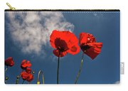 Red Poppies On Blue Sky Carry-all Pouch