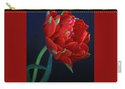 Red Princess Tulip On Blue Carry-all Pouch