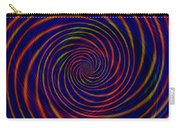 Red Purple Blue Orange Spiral Pattern Carry-all Pouch