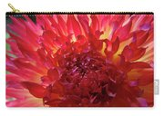 Red Purple Dahlia Flower Summer Dahlia Garden Baslee Troutman Carry-all Pouch