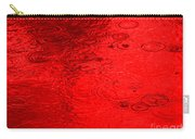 Red Rain Droplets Carry-all Pouch