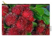 Red Rambutan And Green Leaves Carry-all Pouch