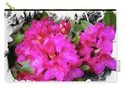 Red Rhododendron Flowers Carry-all Pouch