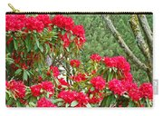 Red Rhododendron Garden Art Prints Rhodies Landscape Baslee Troutman Carry-all Pouch
