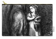 Red Riding Hood Meets Old Father Wolf Carry-all Pouch