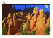 Red Rock Canoyon Moonrise Carry-all Pouch