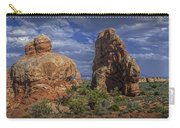 Red Rock Formations On A Desert Plateau In Utah Carry-all Pouch