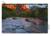 Red Rock Sunset Carry-all Pouch by Mike  Dawson