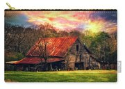 Red Roof At Sunset Carry-all Pouch