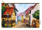 Red Roof - Palette Knife Oil Painting On Canvas By Leonid Afremov Carry-all Pouch