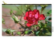 Red Rose And Buds Carry-all Pouch