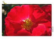 Red Rose Art Print Sunlit Roses Botanical Giclee Baslee Troutman Carry-all Pouch