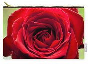 Red Rose Colour Isolated On A Green Background. Carry-all Pouch