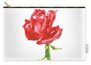 Red Rose Watercolor Painting Carry-all Pouch