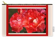 Red Rose With A Whisper Of Yellow And Design Carry-all Pouch