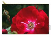 Red Rose With Buds Carry-all Pouch