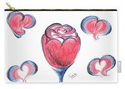 Red Rose- With Love  Carry-all Pouch