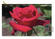 Red Rose With Stem Carry-all Pouch