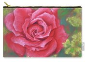 Red Rose With Yellow Lady's Mantle Carry-all Pouch