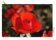 Red Rosebud Opening Carry-all Pouch