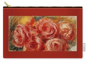Red Roses Pierre-auguste Renoir Carry-all Pouch