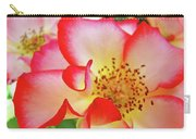 Red Roses White Yellow Rose Flower Floral Art Print Baslee Troutman Carry-all Pouch