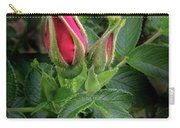 Red Rugosia Bud Carry-all Pouch