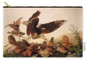 Red Shouldered Hawk Attacking Bobwhite Partridge Carry-all Pouch