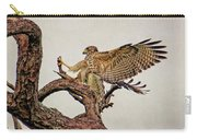 Red-shouldered Hawk Landing 2 Carry-all Pouch