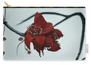 Red Silk Cotton Flower Carry-all Pouch