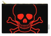 Red Skull And Crossbones Carry-all Pouch