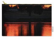 Red Sky Reflection With Tree Carry-all Pouch