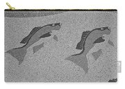 Red Snapper Inlay In Grayscale Carry-all Pouch
